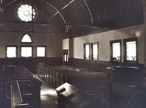 Interior shot of the original church building