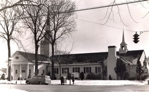 Exterior of the church 1950s